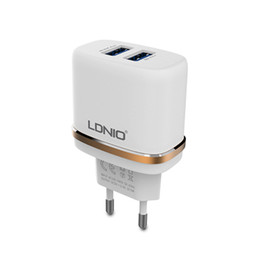 LDNIO 5V 2.4A Dual 2 port USB EU Adapter Travel Wall Charger for iPhone 6 6s 5 5c iPad Pro mini iPod USB Charger