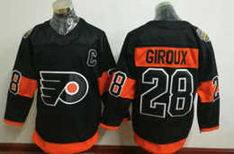 Promotion série de hockey Hommes Ice Hockey 2017 Stadium Series Philadelphia Team Player Sports Jerseys 28 Giroux # 9 # 10 # 11 # 53 # 88 # 93 Taille M-3XL Livraison gratuite