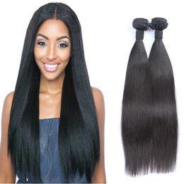 Top Grade 2 Bundle Peruvian Straight Virgin Hair 100% Unprocessed Peruvian Virgin Hair Cheap 2pcs 100g  Lot Human Hair Bundle No Tangle