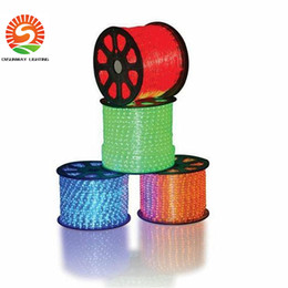100M 2wire round rope light LED Flex Rope Light PVC LED Strip lights Flex Tube Disco Bar Pub Christmas Party