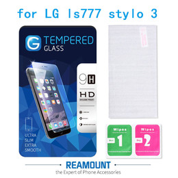 9H Hardness Premium Tempered Glass Screen Protector for lg stylo 3 Model Toughened protective film with High Class Packaging