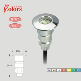 Wholesale Colors IP67 Aluminum Small Size LED Driveway Up Lighting Lamp Underground Light DC12V W LED Patio Light for Outdoor