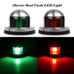 Wholesale Marine Boat Yacht LED Light V Green And Red Waterproof Stainless Steel Bow Navigation Lights