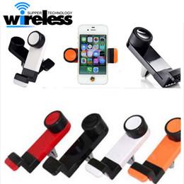 Vent mount gps à vendre-Universal Portable voiture Air Vent Mount Mobile Phone GPS Holder Frame 360 degrés tournant pour iPhone 6 Plus 5S téléphone intelligent avec forfait