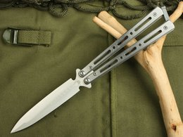 Wholesale Benchmade Butterfly Balisong Double EDGE Folding Knives Cr13Mov HRC Camping Hunting Survival Pocket Knives Rescue EDC Hand Tools
