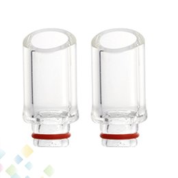 Wholesale Transparent Pyrex Glass Drip Tips Drip Tip beveled bore EGO Atomizer Tank Mouthpiece High quality DHL Free