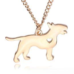 Скидка американские собаки 2017 Американская маленькая любовь маленькая собака кулон Серебряное ожерелье Маленькие ожерелья Подвески Женщины Горячие Продажа Завод животных ручной работы