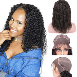 Top Quality Brazilian Wet and Wavy Human Hair Wigs Brazilian Kinky Curly Lace Front Wigs Glueless Swiss Lace Wigs Bleached Knots