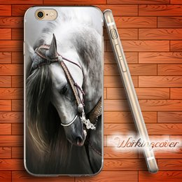 Fundas White Horse Portrait Soft Clear TPU Case for iPhone 7 6 6S Plus 5S SE 5 5C 4S 4 Case Silicone Cover.