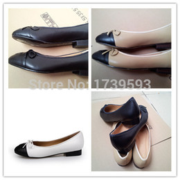 2017 Special Offer High Quality Ladies Bowtie Decoration Shoes original soft Genuine Leather Flats Casual Shoes Women size 34-42