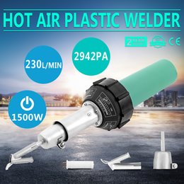 Wholesale 1500W Hot Air Plastic welding Gun welder Kit with PE PVC Plastic Rod Roller
