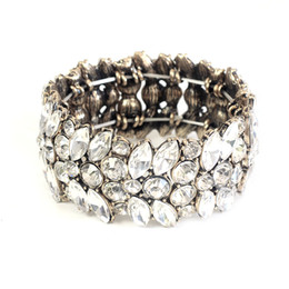 Free Shipping Stretched Bracelet, New Crystal Glass Stone Necklace, Statement Fashion Hot Sale Bracelet, Elegant Luxury Bracelet