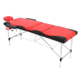 Wholesale New Portable Fold Massage Table Mixed Color Adjustable Salon SPA Therapy Tattoo Beauty Massage Bed Device with Carrying Bag