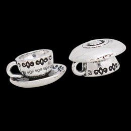 Fashion Coffee Cup Shape Alloy Charms Vintage Pendant Bangle Charms AAC1228