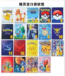 Wholesale Poke Go Pikachu Cases Designs Elf Ball PU Leather Stand Bags Pouch Pocket Monster Cases For ipad Mini ipad