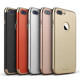 Wholesale Frosted Oil Surface iPhone PC Case with Electroplate Frames Hard Combined Case for Apple iPhone