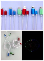 Wholesale The latest research and development with LED function data cable for Apple phone Samsung S4 S5 S6 Huawei millet
