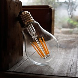 Wholesale Hot Sale LED Bulbs W W Vintage Edison LED Bulb Dimmable A60 Antique LED Bulb Filament Light For Decorate Home E27 E26 B22 K