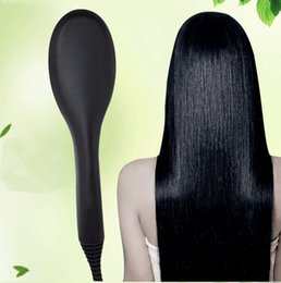 Professional Hot sale electric ceramic led hair straightening brush good quality with hair straightener comb