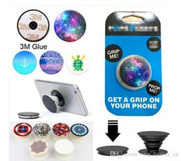 Wholesale 77 Designs Universal PopSockets Phone Grip Ring Holder Degree Bracket for iPhone Samsung HTC LG ZTE Moto with Retail Box Your Logo