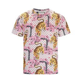 Photos 17ktv fashion Wave Of Men Floral Print Colour parblo Mixture Luxury Men's T-Shirts Casual Harajuku Long Men's Medusa M--2XL