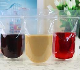 Logotipo bolsa de plástico paquete en venta-Impresión logotipo personal Plástico Bebida Bolsa de Embalaje Bolsa de Leche para Bebidas Leche Café ziplock resellable bolsa de alimentos con cremallera