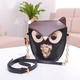 Acheter en ligne Sac bolsas cuir corps croix-Vente en gros-2016 nouvelle marque pour les femmes Girl Small PU cuir Owl Pattern sac à bandoulière Messenger Shoulder Bag Cross Body