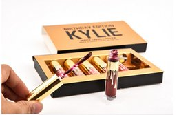 Wholesale Kylie jenner Matte Lord Metal Gold LIMITED EDIT ION KYLIE BIRTHDAY COLLECTION Kylie Birthday Edition set