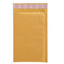 2017 burbuja de papel kraft Bolso amarillo del envío de los bolsos de la burbuja de Kraft del bulto los 12 * 18cm Kraft de Kraft del sobre de la burbuja de Wholesale-10pcs Bolso del envío de Mailbags descuento burbuja de papel kraft