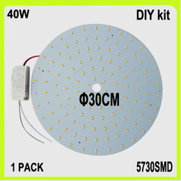 DIY install 40W LED down light kits LED disc dia30cm warm white cool white round led panel surface mounted circular tube