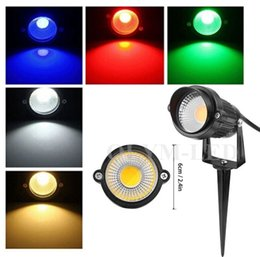 Wholesale 10X New Arrival COB Lamp W W LED Spot Garden Lawn Outdoor Light V Warm White Outdoor Landscape Waterpoof Light Tang with Cap