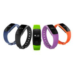 Promotion activité smartband tracker Fitbit ID107 bracelets de poignet avec Heart Rate Fitness Activity Tracker Bluetooth 4.0 Smartband fitbit Sport Bracelet pour IOS téléphone Android