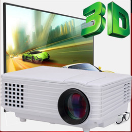 Wholesale HD P Mini LCD Image System Multimedia LED Projector Home Theater Cinema Digital Projectors TV Game proyector video projetor