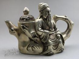 Collectible Qing Dynasties Longevity copper teapot