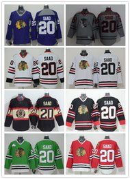 2015 Newest Wholesale Mens Chicago Blackhawks #20 Brandon Saad Black 2014 Stadium Jerseys Nhl Ice Hockey Jerseys