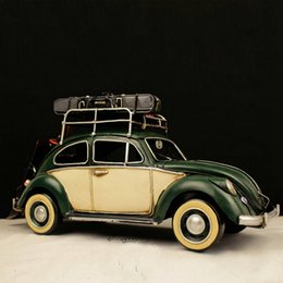 Wholesale high simulation hand made wecker jalopy vehicle truck vintage beat up car collection Models Retro decor room house bar club pub Decoration