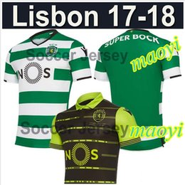 top thai quality 17 18 Sporting Clube Lisbon Soccer jerseys home away 2017 2018 Football shirts Luis Figo Nani TEO Slimani William Montero
