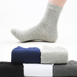 5pair Men Socks Socks Men Spring Solid Color Men's Socks Long White Business Male Human Calcetines Hombre Meias Homens