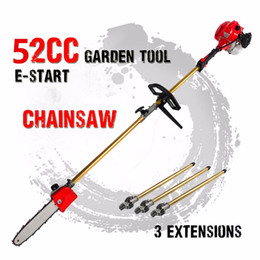 Wholesale 52cc Long Reach Pole Chainsaw telescopic pole Petrol Chain Saw Brush Cutter Tree Pruner with extend pole Garden Tools