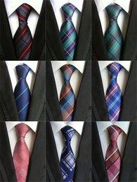Venta al por mayor corbata roja en Línea-Venta al por mayor Nuevo diseño de la marca de fábrica los 8cm hombres delgados corbatas Corbatas clásicas de la tela escocesa del Mens de la tela escocesa para los hombres Corbata de la boda del lazo Azul Rojo Negro A005