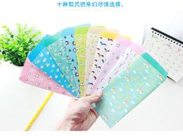 Papelería sobre de papel en Línea-Conjunto del sobre de papel de los animales del kawaii de Wholesale-5PCS / BAG para las invitaciones de la letra de la boda del regalo de Scrapbooking de la tarjeta papelaria coreano papelaria