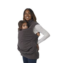 Wholesale Mother s Baby Holder Sleeveless Jacket Multi functional Kangaroo Baby Carrier Waistcoat Maternity Zipper Polar Fleece Vest size colors