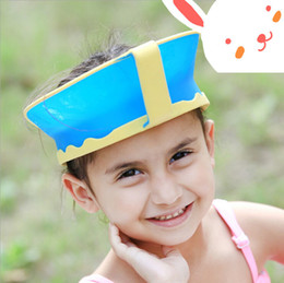 cheveux amicaux Promotion Vente en gros - New Kids Bath Visor Hat, réglable Baby Shower Cap Protect Shampooing, Hair Wash Shield for Children Infant Splashguard imperméable à l'eau
