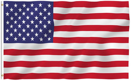 3x5 Foot American US Flag - Vivid Color and UV Fade Resistant - 100% Polyester (Double Sided) USA National Flags with Brass Grommets