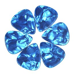 100 pcs Heavy 1.5mm Blank guitar picks Plectrums No Print Celluloid Pearl Sky Blue
