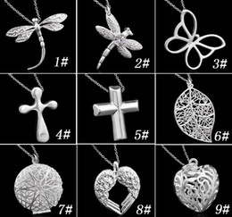 925 Silver Pendant Necklace For Women Hot Sale Fashion Dragonfly heart and Cross Pendants 925 sterling silver Jewelry free shipping