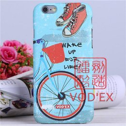 Wholesale Vodex cases blue bike travel patterns Apple water mobile phone shell embossed D feel iPhone7 p p