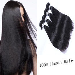 Brazilian Hair Weaves 4pcs UNPROCESSED Virgin Human Hair Wefts Brazilain Hair Extensions Double Weft Straight Bundles Free Shipping