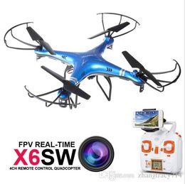 2017 vidéo rc X6SW Professionnel FPV RC Quadcopter Drone Avec Caméra WIFI HD 2.4G 4CH Rc Dron Helicopter Support Vidéo en temps réel VS Syma Drone X5SW vidéo rc à vendre