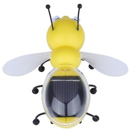 Juguete educativo de abeja en venta-Venta al por mayor-2016 nuevos niños juguete juguete educativo animal de la abeja de la energía solar con los niños del panel solar que educan el regalo del juguete para los juguetes de la energía solar de los cabritos